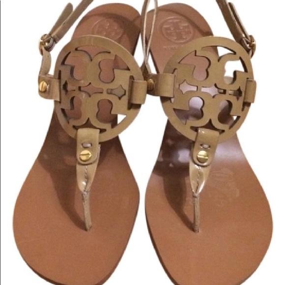 ccee135edd7 Tory Burch Nude Holly heeled sandal EUC